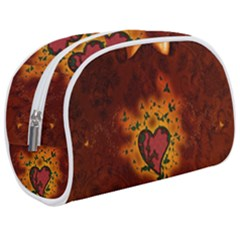 Beautiful Heart With Leaves Makeup Case (Medium)