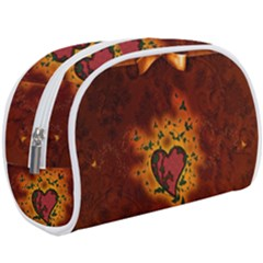 Beautiful Heart With Leaves Makeup Case (Large)