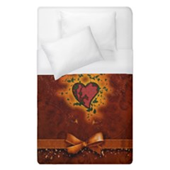 Beautiful Heart With Leaves Duvet Cover (Single Size)