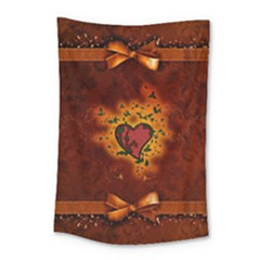 Beautiful Heart With Leaves Small Tapestry