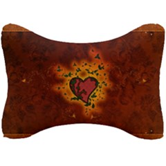 Beautiful Heart With Leaves Seat Head Rest Cushion
