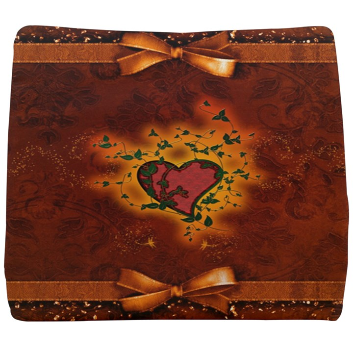 Beautiful Heart With Leaves Seat Cushion