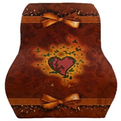 Beautiful Heart With Leaves Car Seat Back Cushion