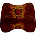 Beautiful Heart With Leaves Velour Head Support Cushion View2