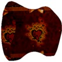 Beautiful Heart With Leaves Velour Head Support Cushion View3
