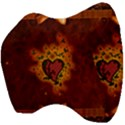 Beautiful Heart With Leaves Velour Head Support Cushion View4