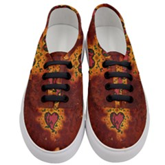 Beautiful Heart With Leaves Women s Classic Low Top Sneakers