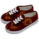 Beautiful Heart With Leaves Kids  Classic Low Top Sneakers View2