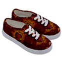 Beautiful Heart With Leaves Kids  Classic Low Top Sneakers View3