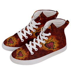 Beautiful Heart With Leaves Women s Hi-Top Skate Sneakers