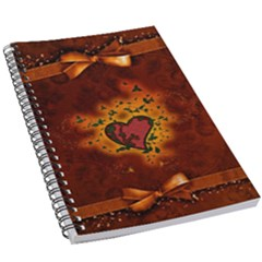 Beautiful Heart With Leaves 5.5  x 8.5  Notebook