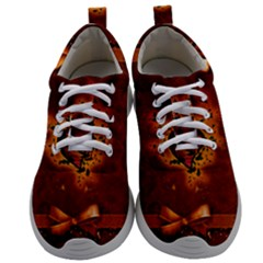 Beautiful Heart With Leaves Mens Athletic Shoes