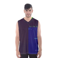 Holdenk Clothes-from-code s Gen-py Glitch Code Boxy Basketball Tank Top by HoldensGlitchCode