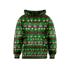 Snow Trees and Stripes Kids  Pullover Hoodie
