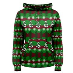 Snow Trees and Stripes Women s Pullover Hoodie