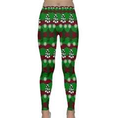 Snow Trees and Stripes Classic Yoga Leggings