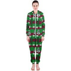 Snow Trees and Stripes Hooded Jumpsuit (Ladies)