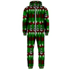 Snow Trees And Stripes Hooded Jumpsuit (men)