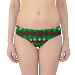 Snow Trees and Stripes Hipster Bikini Bottoms