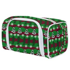 Snow Trees and Stripes Toiletries Pouch