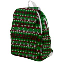 Snow Trees and Stripes Top Flap Backpack