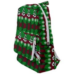 Snow Trees and Stripes Travelers  Backpack