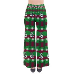 Snow Trees and Stripes So Vintage Palazzo Pants