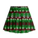 Snow Trees and Stripes Mini Flare Skirt View1