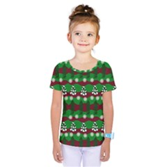 Snow Trees and Stripes Kids  One Piece Tee