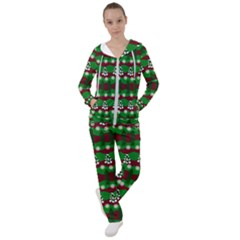 Snow Trees and Stripes Women s Tracksuit