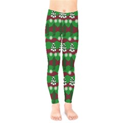 Snow Trees and Stripes Kids  Leggings