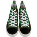 Snow Trees and Stripes Men s Mid-Top Canvas Sneakers View1