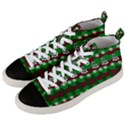 Snow Trees and Stripes Men s Mid-Top Canvas Sneakers View2