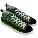 Snow Trees and Stripes Men s Mid-Top Canvas Sneakers View3