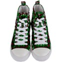 Snow Trees and Stripes Women s Mid-Top Canvas Sneakers View1