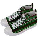 Snow Trees and Stripes Women s Mid-Top Canvas Sneakers View2
