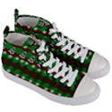 Snow Trees and Stripes Women s Mid-Top Canvas Sneakers View3
