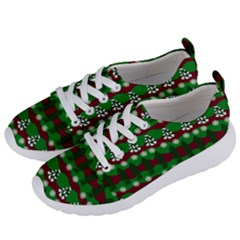 Snow Trees and Stripes Women s Lightweight Sports Shoes