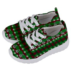 Snow Trees and Stripes Kids  Lightweight Sports Shoes