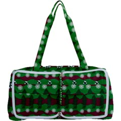 Snow Trees and Stripes Multi Function Bag