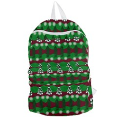 Snow Trees and Stripes Foldable Lightweight Backpack