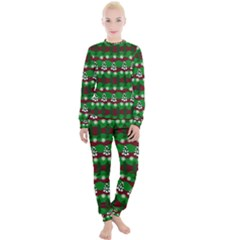 Snow Trees and Stripes Women s Lounge Set