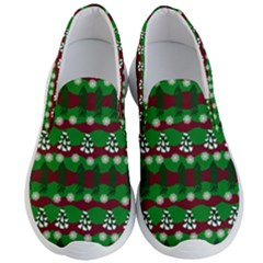 Snow Trees and Stripes Men s Lightweight Slip Ons