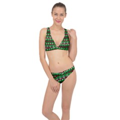 Snow Trees and Stripes Classic Banded Bikini Set