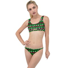 Snow Trees and Stripes The Little Details Bikini Set