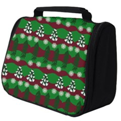 Snow Trees and Stripes Full Print Travel Pouch (Big)