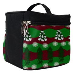 Snow Trees and Stripes Make Up Travel Bag (Small)