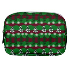 Snow Trees and Stripes Make Up Pouch (Small)