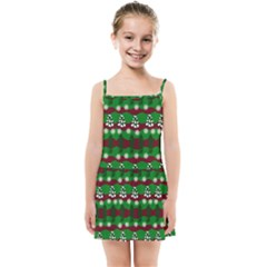 Snow Trees and Stripes Kids  Summer Sun Dress