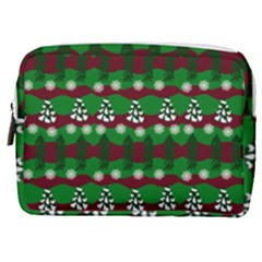 Snow Trees and Stripes Make Up Pouch (Medium)